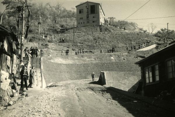 昭和35年の山麓駅